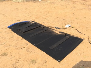 The wind blew over the solar panel. It's these kinds of little annoyances that pile up on an off-kilter trip.