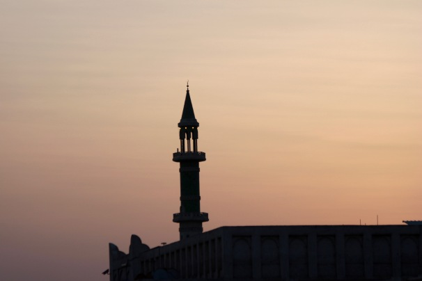 Minaret at dusk